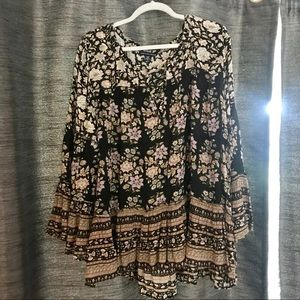 Boho style floral top